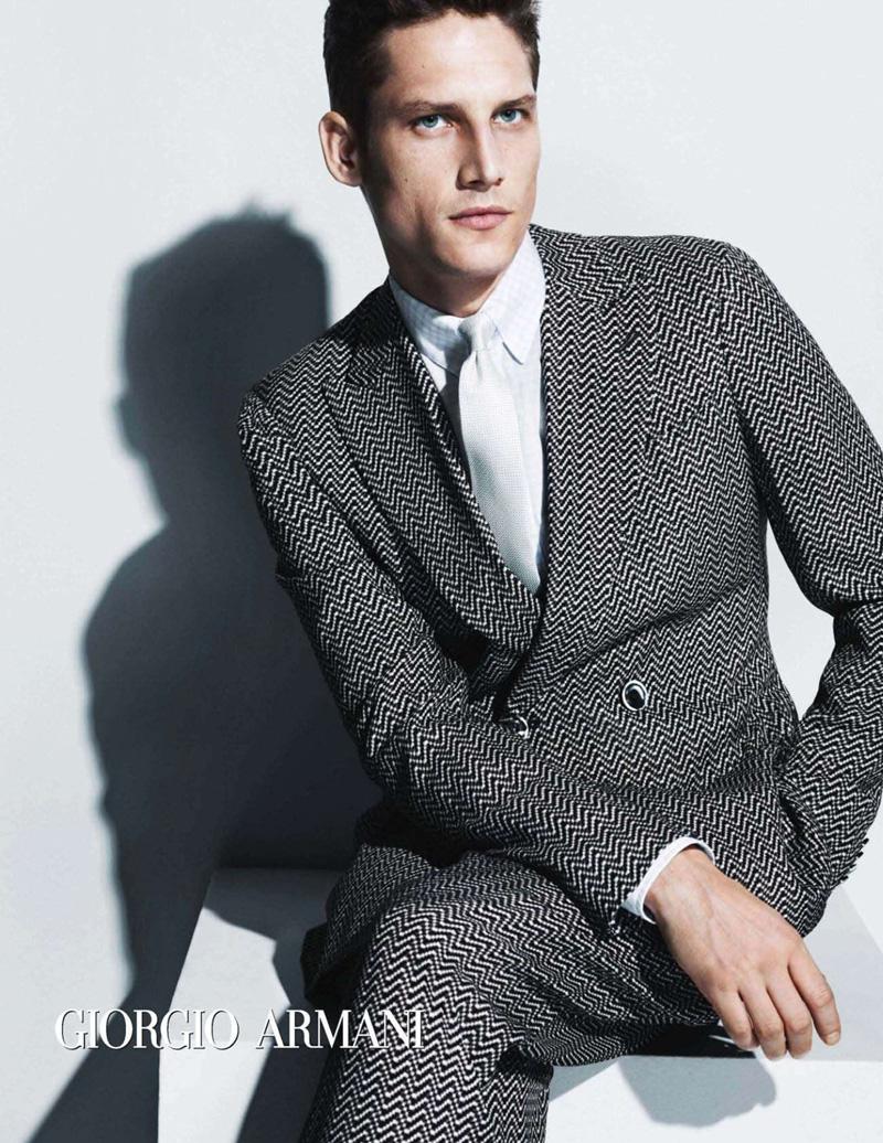 Model Roch Barbot becomes the new face of Giorgio Armani with label's ... Giorgio Armani