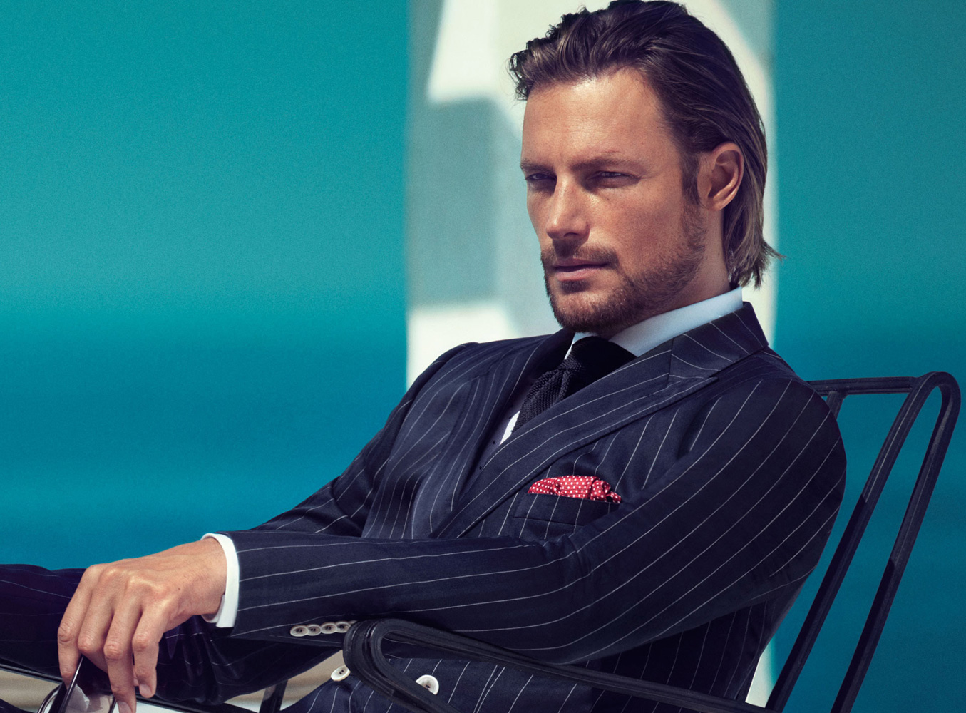 Supermodel Gabriel Aubry photographed as the striking face of Boss ...
