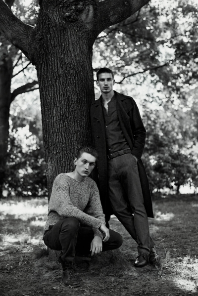 Picture About Male Model Lasse and Gerritt Captured by Bjorn Jonas for Loved Magazine