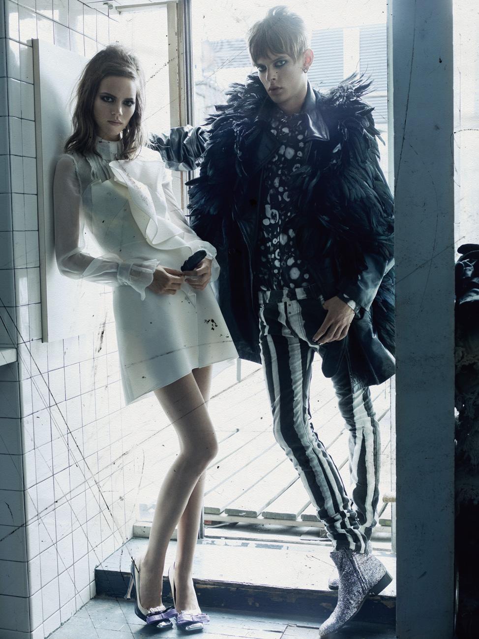 Freja Beha Erichsen & Dan Kling by Craig McDean for Modern Lov