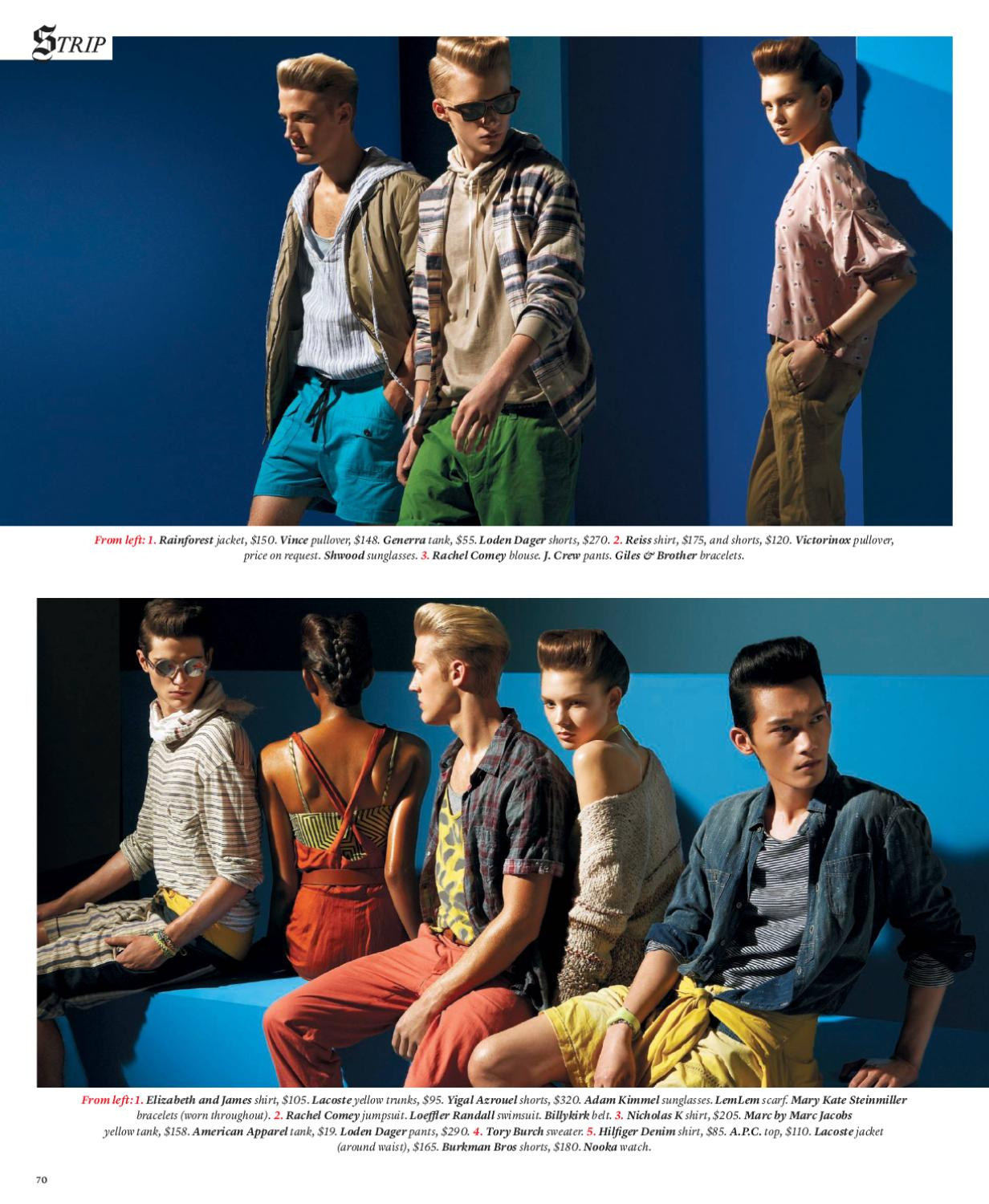 The New York Times T Style Men's Fashion Spring 2010