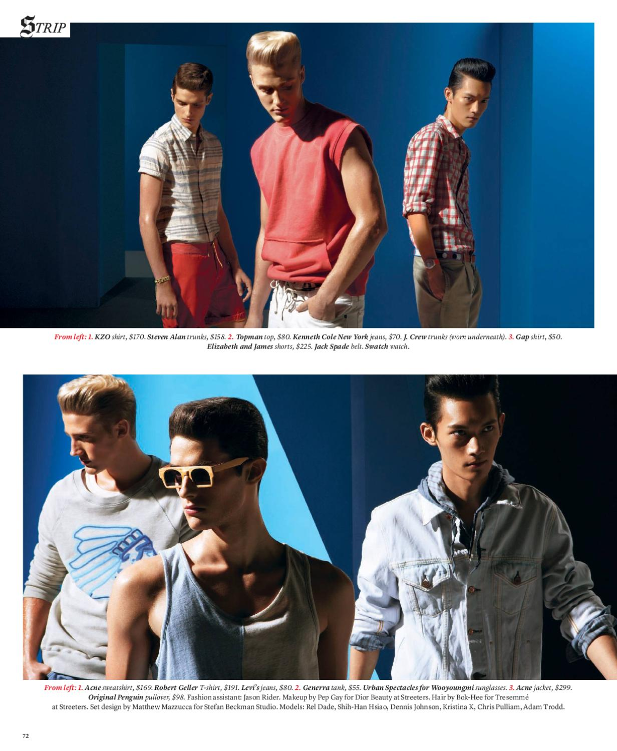 The New York Times T Style Men 39 S Fashion Spring 2010