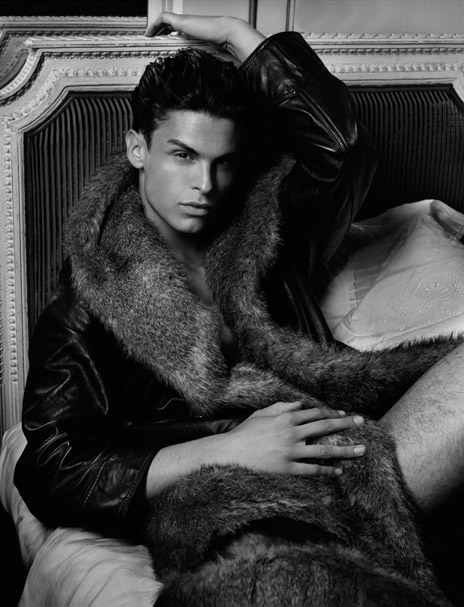 Baptiste Giabiconi & Crystal Renn by Karl Lagerfeld