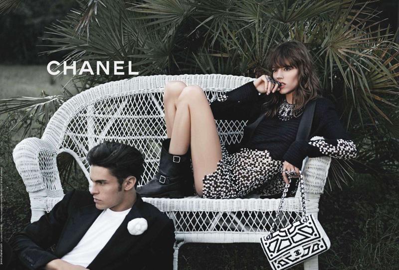 caf50eff1870 Freja Beha   Baptiste Giabiconi for Chanel