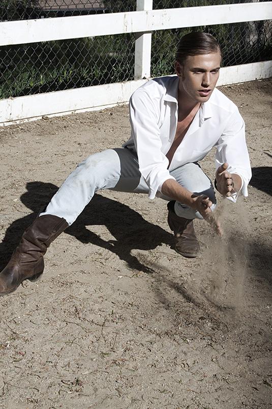 Promising model face Nicky Belardo at Models International teams up