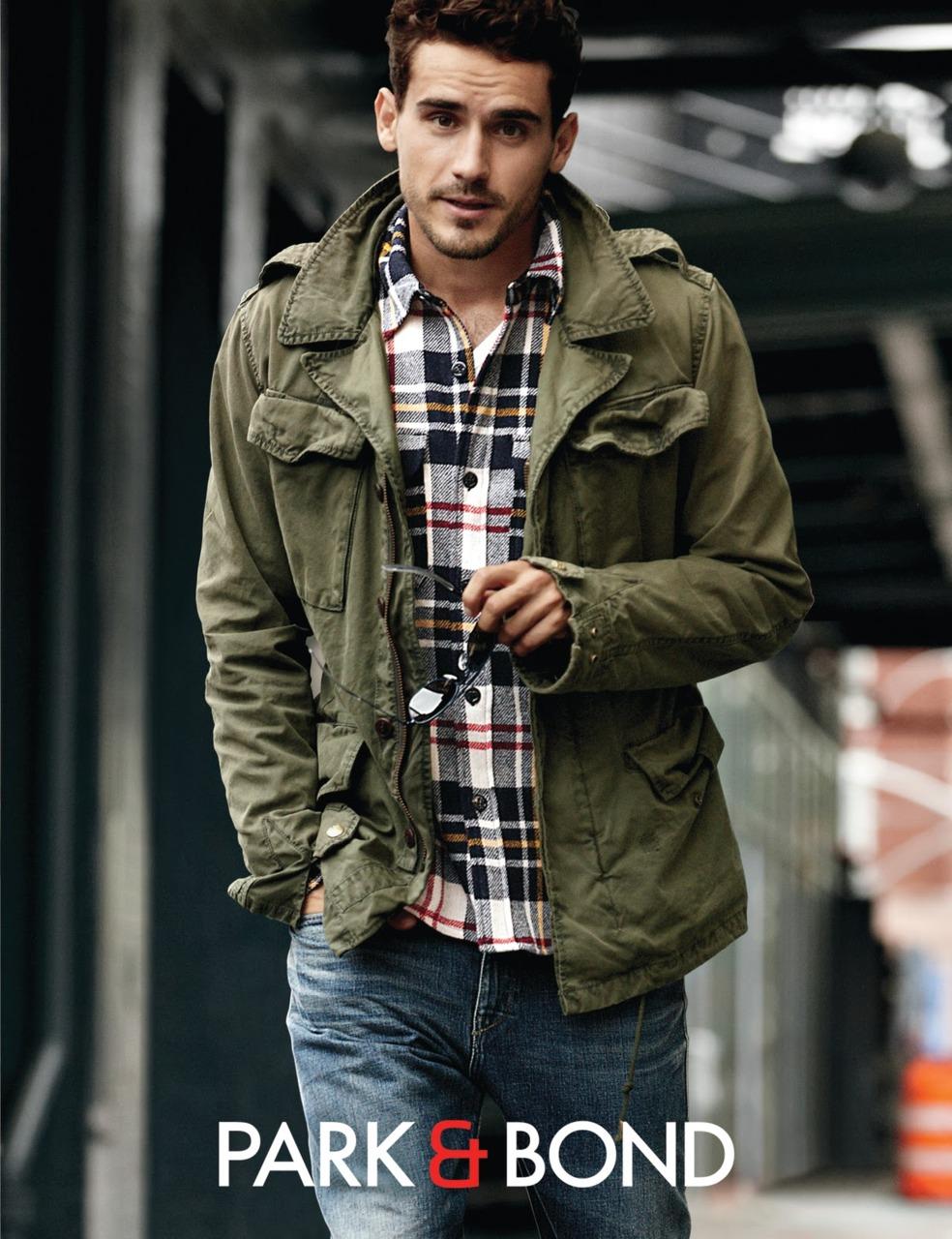 Arthur kulkov for park bond fall winter for Plaid shirt jacket mens