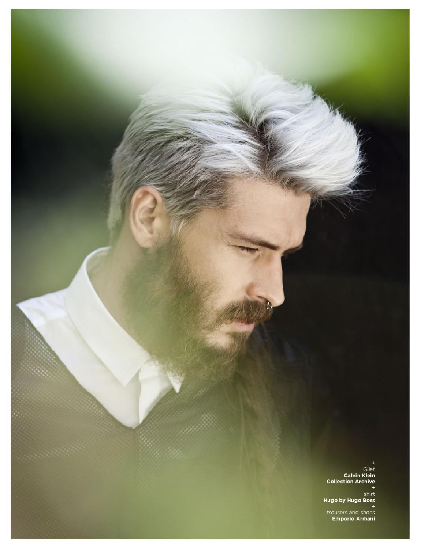 Покраска волос для мужчин в белый
