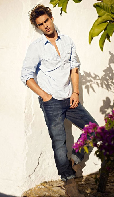 Adam Senn & Jon Kortajarena for Mavi Jeans Spring Summer 2012