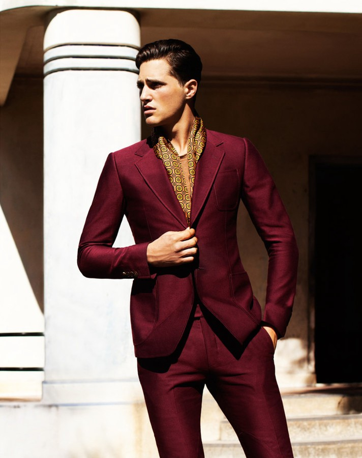 Ollie edwards for hercules for Wine colored mens dress shirts
