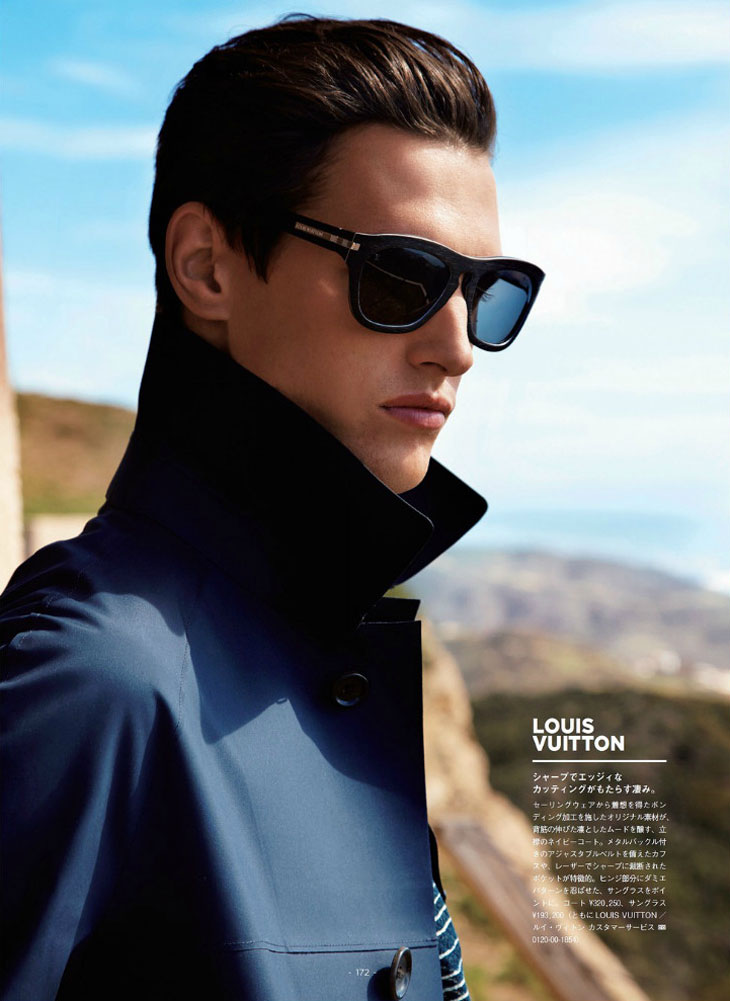 Mathias Bergh by Lincoln Pilcher for GQ Japan Giorgio Armani