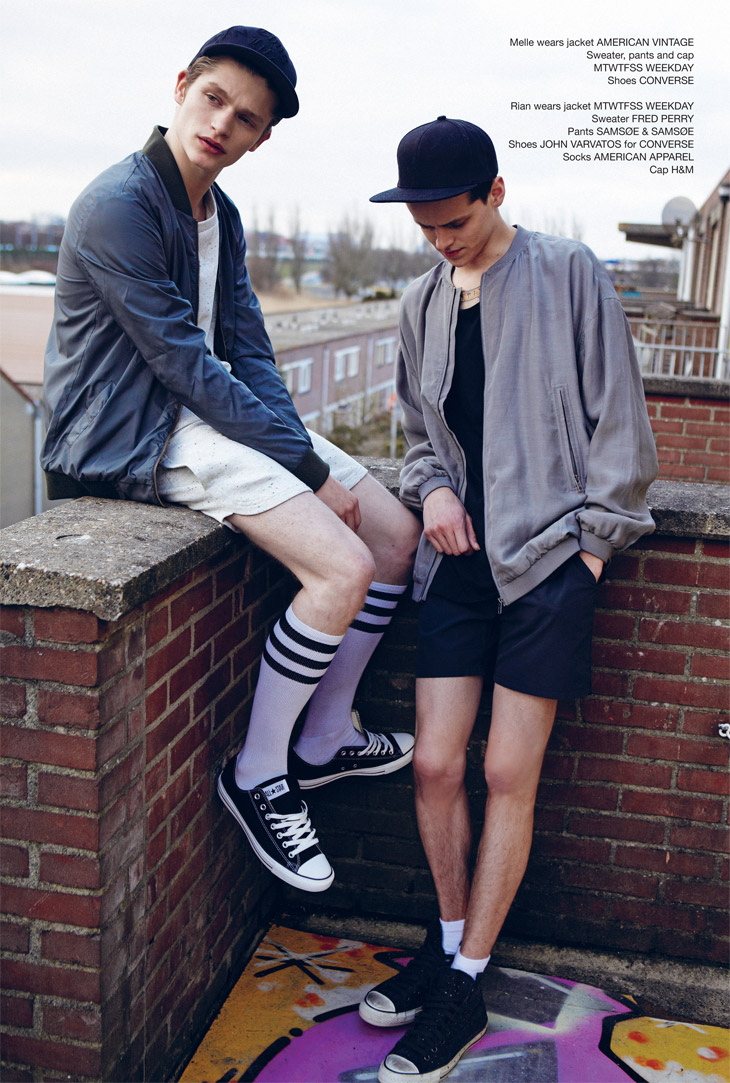 Picture About Male Model Rian van Gend and Melle van Baardwijk for I Love Fake's Spring Captured by Jolijn Snijders