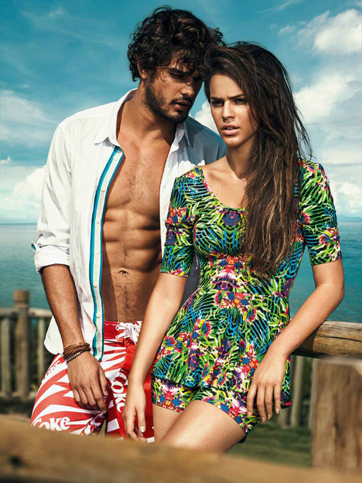 Picture About Male Supermodel Marlon Teixeira as the face of Coca-Cola