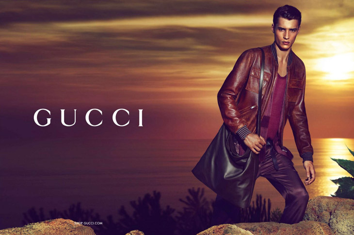 First look of the new Gucci cruise 2014 advertisement starring top model  Adrien Sahores (Ford Models) photographed by the prolific Mert Alas    Marcus ... 8173c575573
