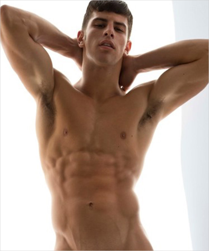 from Leland nude model young male
