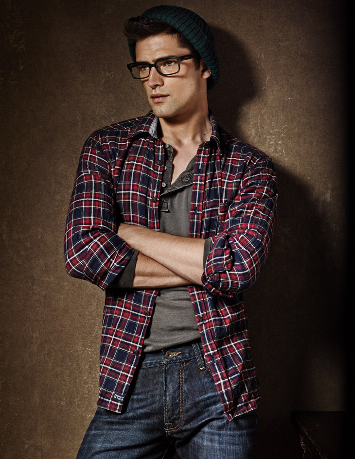 Sean o 39 pry for lucky brand fall winter 2013 for How to wear men s flannel shirts