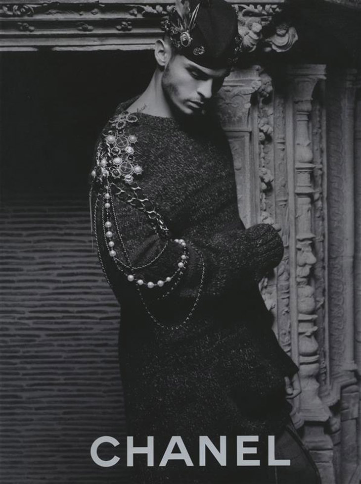 baptiste giabiconi for chanel by karl lagerfeld
