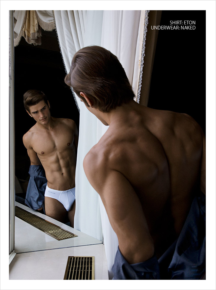 Picture About Male Model Baptiste Giannesini Captured by Rick Day for L'Altro Uomo Book