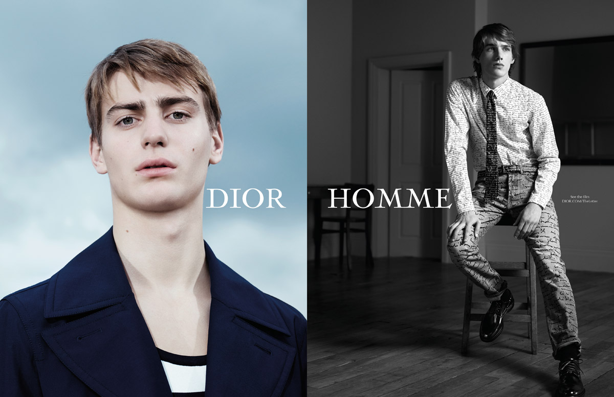 dior homme the letter ss15 by willy vanderperre