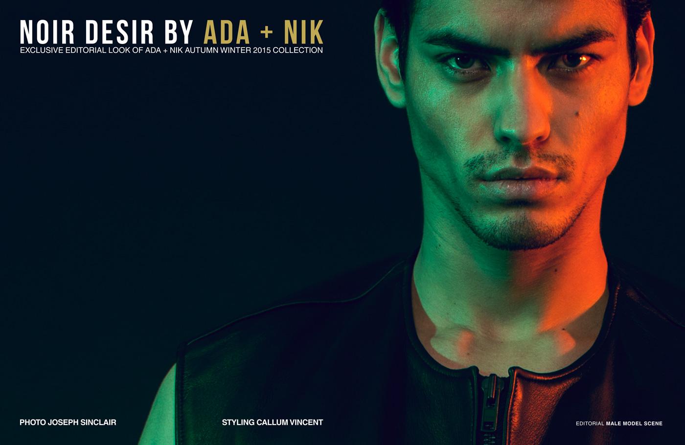 NOIR DESIR ft. ADA + NIK by Joseph Sinclair for Male Model Scene