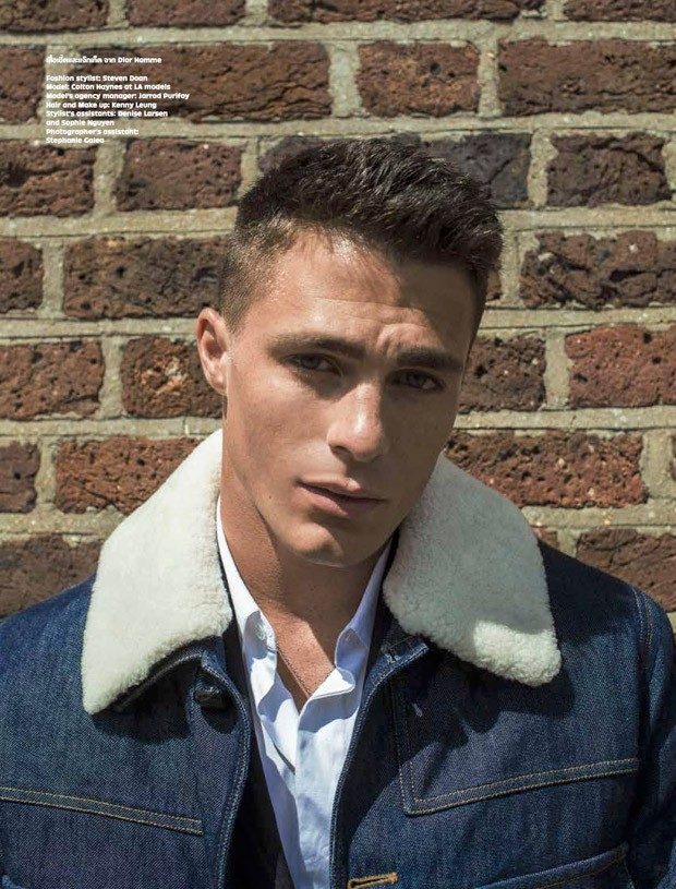 Colton Haynes for L\'Optimum Thailand by Oli Kearon