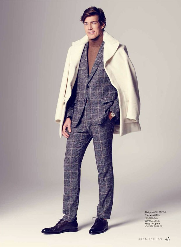 Andres Velencoso in The Cover of Vogue Men Mexico