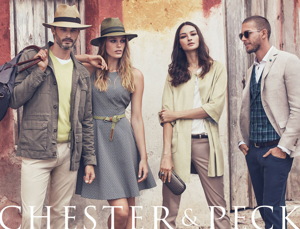 Supermodels Adam Senn and Ben Hill team up with Bruna Tenorio and Madison  Headrick for Chester   Peck s Spring Summer 2016 advertising campaign. 90d31082e