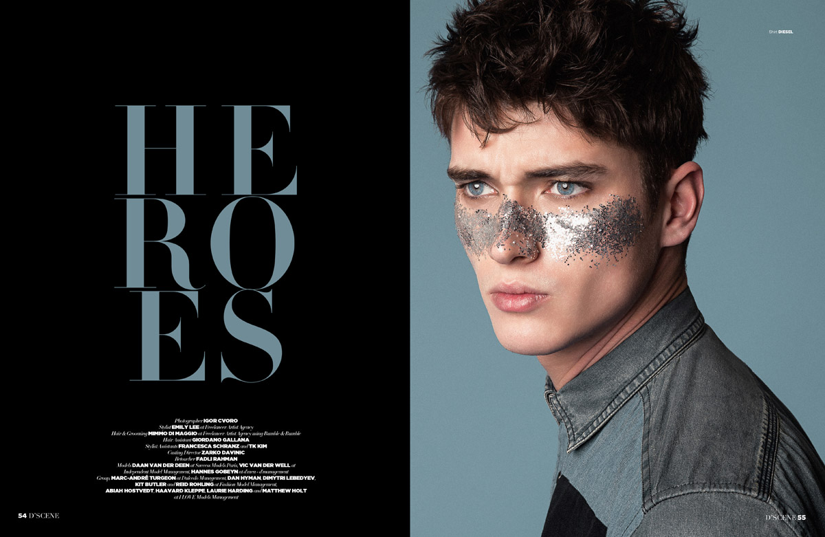 top models in heroes by igor cvoro for d 39 scene magazine. Black Bedroom Furniture Sets. Home Design Ideas