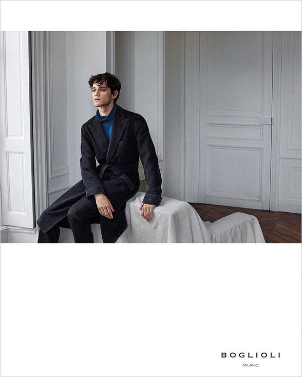 Discover Boglioli s Fall Winter 2016.17 menswear advertisement featuring  model Luke Powell captured by fashion photographer Paul Wetherell aefbd09ba3d
