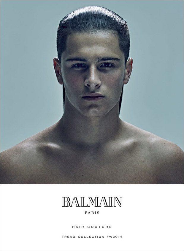 Christopher Hinchey Trevor Signorino For Balmain Hair Couture Fw16