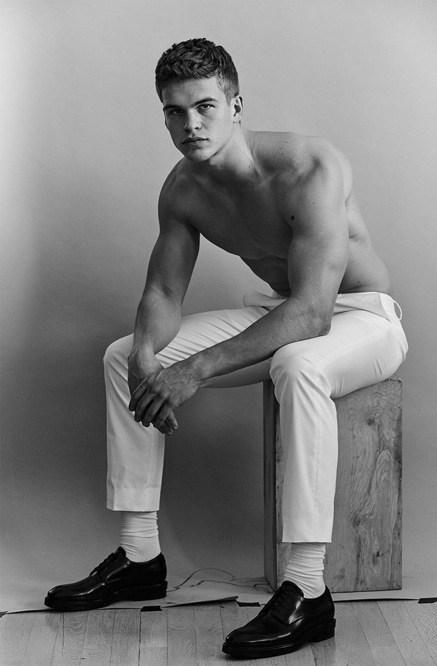 596f40dc65f Mitchell Slaggert Poses in Calvin Klein Looks for Models