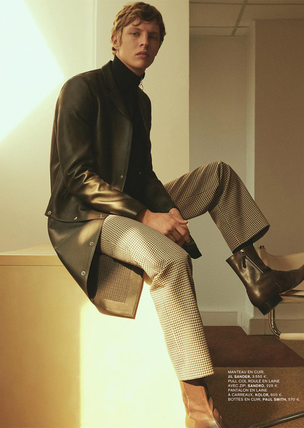 top model tim schuhmacher is secret agent for l 39 express. Black Bedroom Furniture Sets. Home Design Ideas