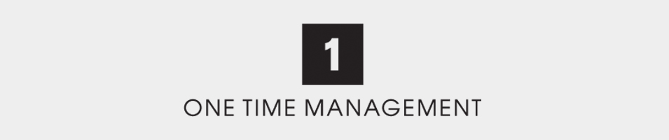 ONE TIME MANAGEMENT