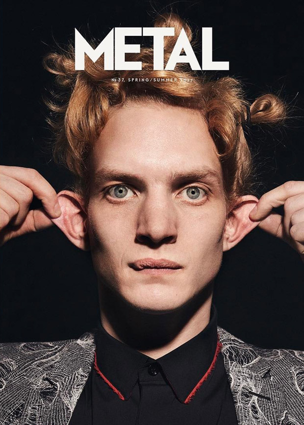 Supermodel Paul Boche Covers Metal Magazine Spring Summer 2017 Issue