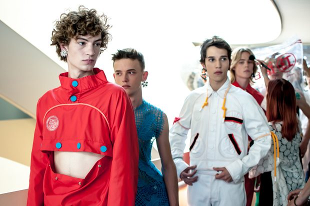 PFW Backstage: Angus Chiang Spring Summer 2018