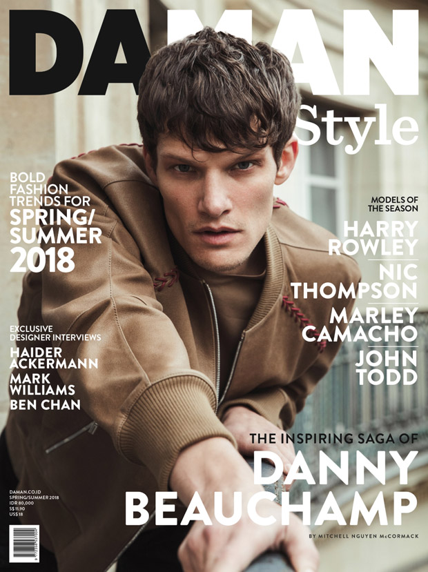 Danny Beauchamp Covers DA MAN Style Spring Summer 2018 Issue