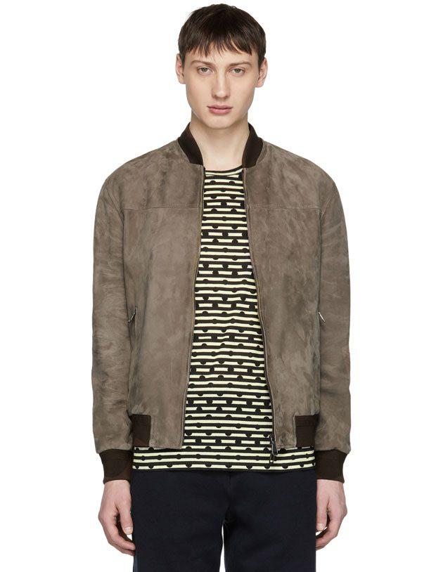 SID Mens Bambert Brown Lambskin Leather Jacket Biker Jacket
