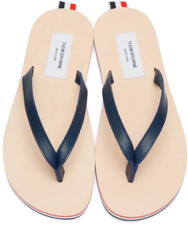 thom browne flip flops