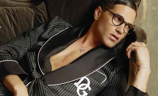 885337cd9fa8 Fabio Mancini Models Dolce   Gabbana for VISION 3.0 July 2018 Issue