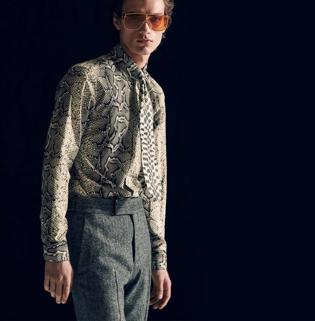 645aa077460b Serge Rigvava   Timothy Lewis Model Tom Ford FW18.19 Collection