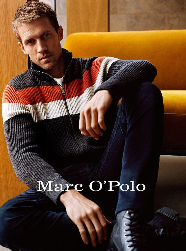 Discover Marc O Polo s Fall Winter 2018.19 advertising campaign featuring  supermodel turned actor Andrew Cooper lensed by fashion photographer  Alasdair ... c42519ac2d