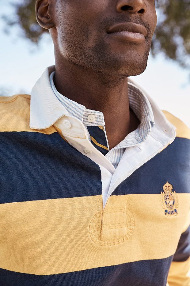 a0f9daa364d0d3 Corey Baptiste Models Mr Porter x Polo Ralph Lauren Capsule Collection