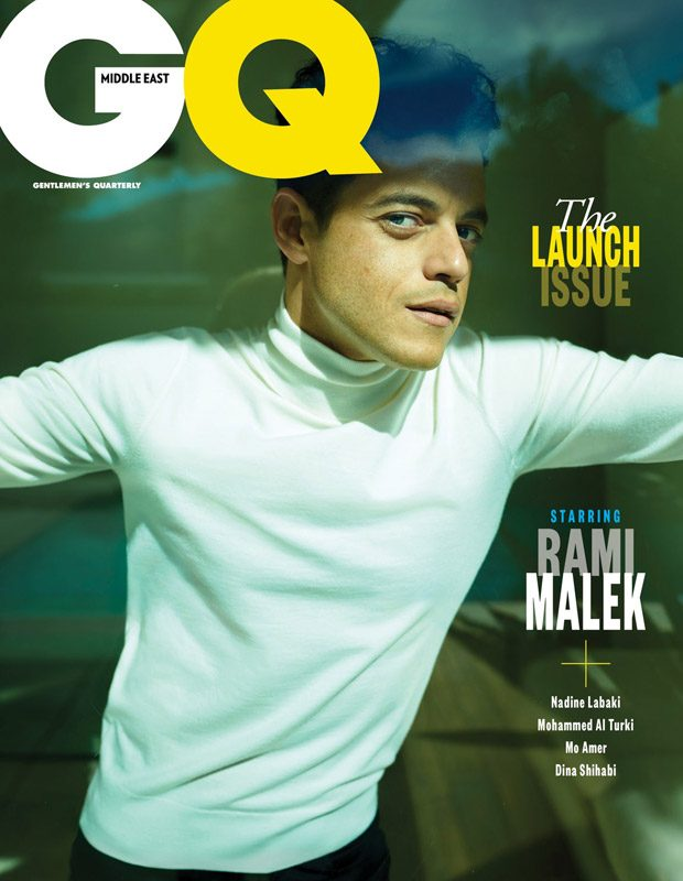87992c1fb021 Rami Malek Stars in the Cover Story of GQ Middle East First Issue
