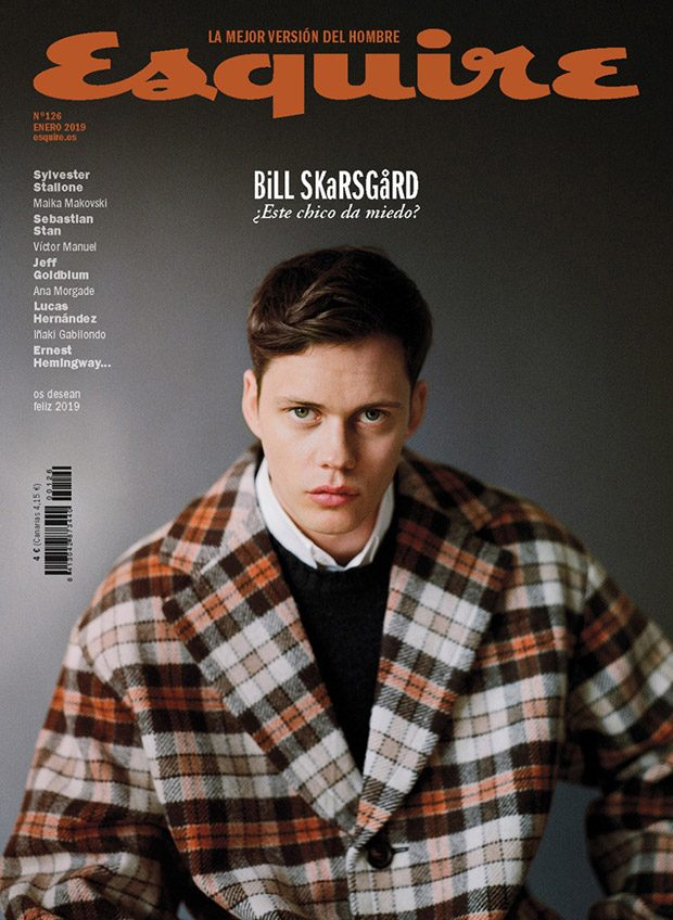 Bill Skarsgard is the Cover Boy of Esquire Spain January 2019 Issue