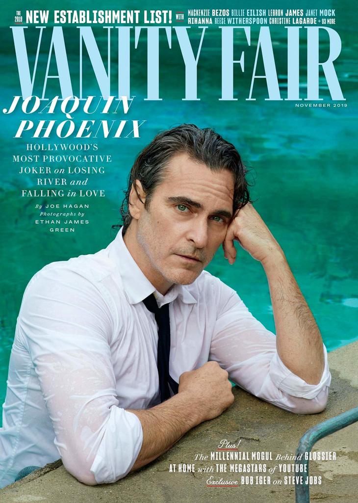 Vanity Fair Cover January 2020.Joker Star Joaquin Phoenix Covers Vanity Fair November 2019