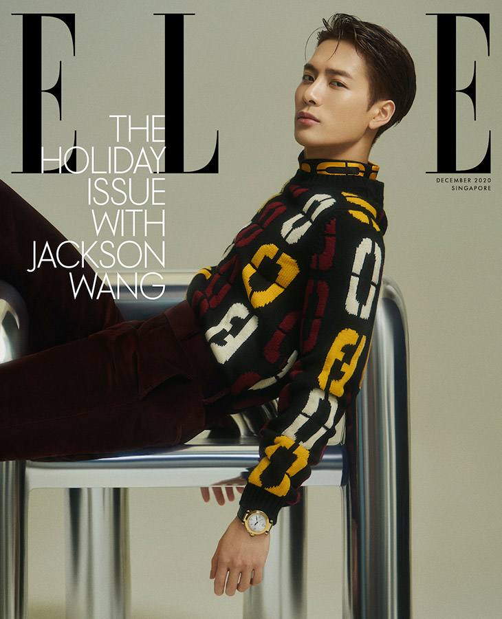 Jackson Wang Is The Cover Star Of Elle Singapore Holiday 2020 Issue